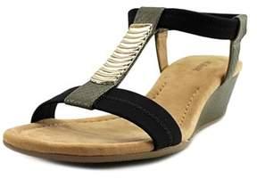 Alfani Vacay Open Toe Synthetic Wedge Sandal.