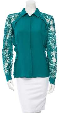 Elie Saab Silk Button-Up Blouse w/ Tags