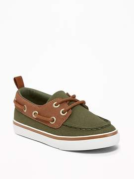 Old Navy Color-Blocked Canvas Boat Shoes for Toddler Boys
