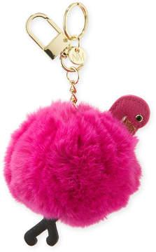 Neiman Marcus Flamingo Pompom Keychain