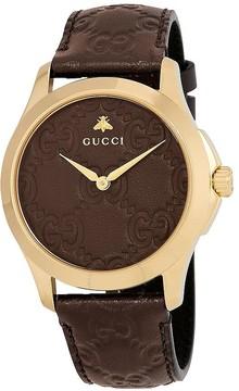Gucci G-Timeless Brown GG Dial Men's Watch