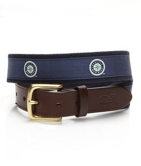 Vineyard Vines Seattle Mariners Canvas Club Belt