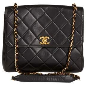 Chanel Vintage Black Leather Handbag