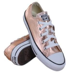 Converse Unisex Chuck Taylor All Star Ox Metallic Sunset Glow/White Basketball Shoe 6.5 Men US / 8.5 Women US