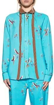 Bagutta Women's Light Blue Viscose Shirt.