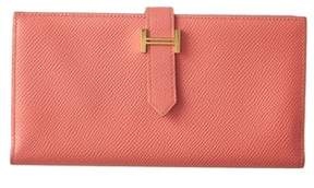 Hermes Pink Epsom Leather Bearn Wallet. - PINK MULTI - STYLE
