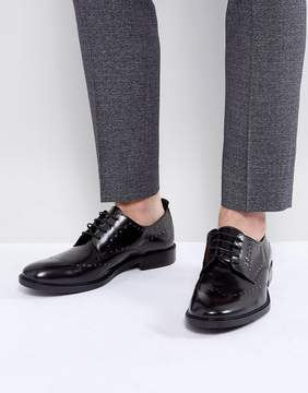 Zign Shoes Leather Studded Brogue Shoes