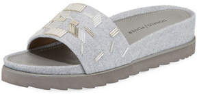 Donald J Pliner Cava Felt Beaded Slide Sandal