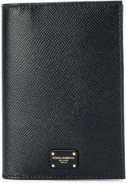 Dolce & Gabbana floral print bifold purse - BLACK - STYLE
