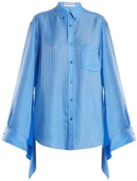 Balenciaga Striped silk-jacquard shirt