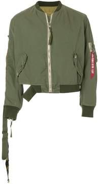 Alpha Industries 424 Fairfax x cropped bomber jacket