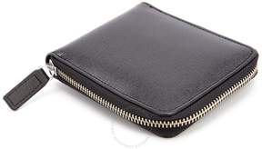 Royce Leather Royce RFID Blocking Saffiano Leather Zip Around Wallet - Black