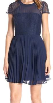 BCBGeneration Womens Lace Trim Mini Cocktail Dress
