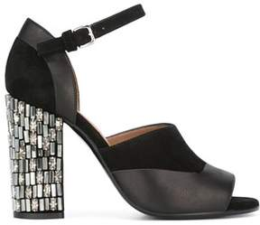 Marni Women's Black Velvet Sandals.
