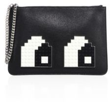 Les Petits Joueurs Envelope Small Eyes Leather Clutch