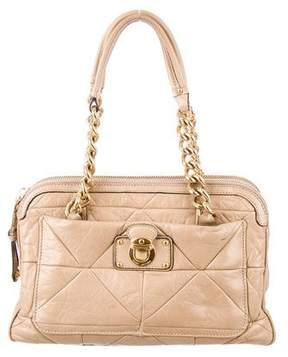 Marc Jacobs Quilted Leather Shoulder Bag - NEUTRALS - STYLE