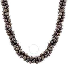Bella Pearl Black Fresh Water Pearl Necklace