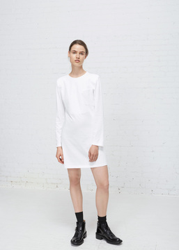 Aalto White Long Sleeve Jersey Mini Dress