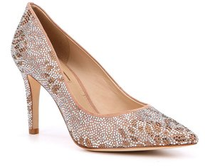 Antonio Melani Mallana Microsuede Hot Fix Crystals Pumps