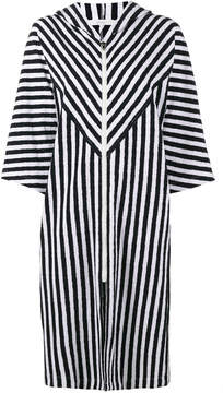 Araks Margot stripe hooded cover-up