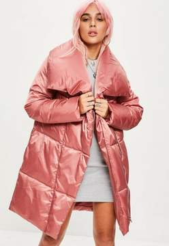 Gigi Hadid Wearing Long Pink Coat Popsugar Fashion