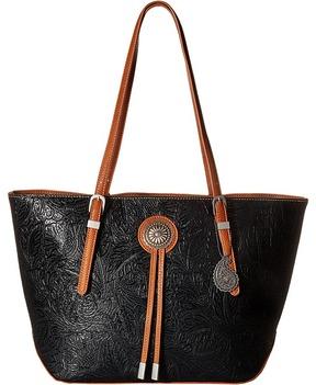 American West Dallas Zip Top Tote Tote Handbags