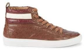 Bally Heaven Havana Leather Sneakers