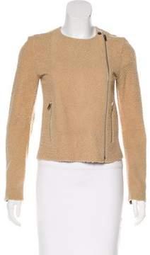 Celine Asymmetrical Shearling Jacket