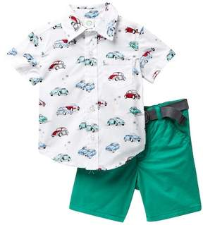 Little Me Car Woven Short Set (Baby Boys)
