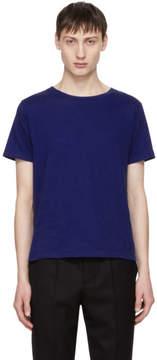 Saint Laurent Blue Fitted SL T-Shirt