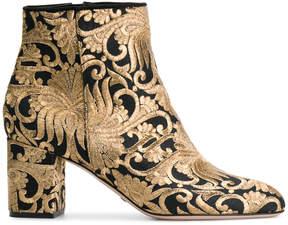 Sebastian jacquard ankle boots