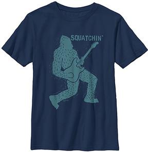 Fifth Sun Navy 'Squatchin'' Bigfoot Rocks Crewneck Tee - Boys