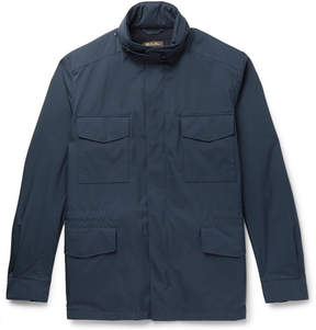 Loro Piana Traveller Cashmere-Lined Windmate Storm System Field Jacket