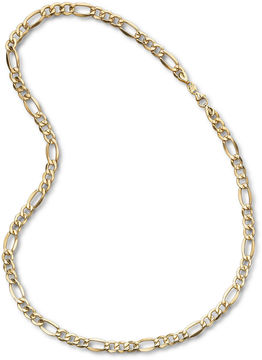 JCPenney FINE JEWELRY Mens 10K Yellow Gold 22 7.5mm Semi-Solid Figaro Chain Necklace