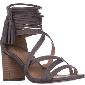 XOXO Elle Block-heel Ankle-strap Sandals, Taupe.