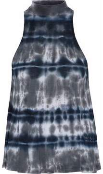 Enza Costa Tie-Dyed Ribbed Jersey Top