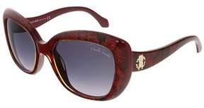 Roberto Cavalli Rc828s/s 69t Shiny Bordeaux Glitter Snake Butterfly Sunglasses.
