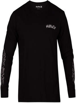 Hurley Men's Graphic Print Long-Sleeve T-Shirt
