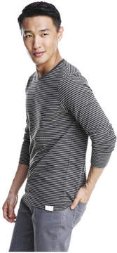 Joe Fresh Men's Stripe Tee, Dark Grey Mix (Size S)