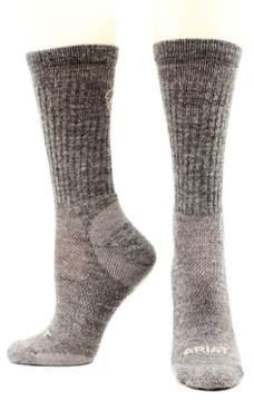 Ariat Socks Men Merino Hiker Lightweight Wool Acrylic XL Gray A2506406