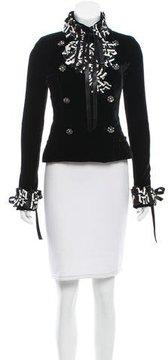 Chanel Embellished Velvet Jacket