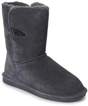 BearPaw Charcoal Victorian Short Boots