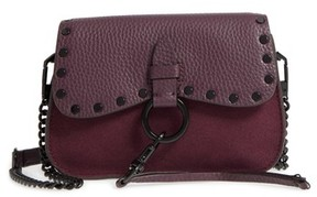 Rebecca Minkoff Small Keith Suede & Leather Saddle Bag - Red - RED - STYLE