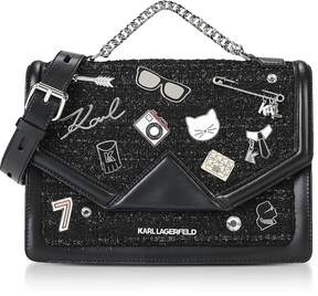 Karl Lagerfeld Black K/Klassik Pins Shoulder Bag