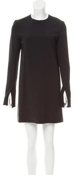 Celine Leather-Trimmed Shift Dress w/ Tags