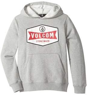 Volcom Patch Stone Pullover Hoodie Boy's Sweatshirt