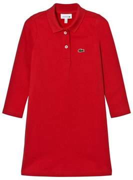 Lacoste Red Pique Polo Dress