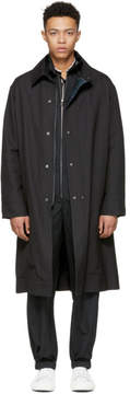 Lanvin Black Technical Wool Coat