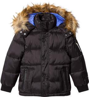 Diadora Black Sun Vally Piumino Corto Nylon Hooded Jacket