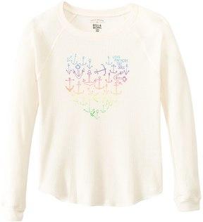 Billabong Girls' Anchorz Away Heart Graphic L/S Thermal Tee (4yrs14yrs) - 8135467